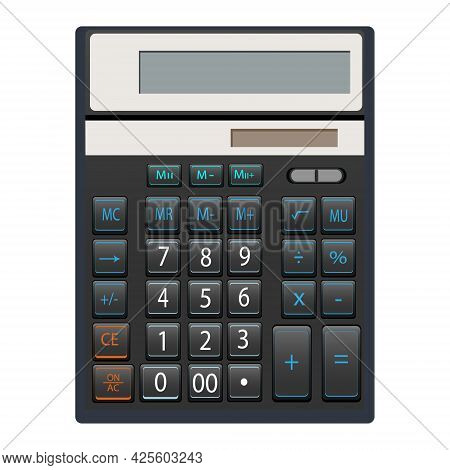 Calculator Vector Isolated On White Background. Calculator Icon. Equipment For Mathematical Calculat