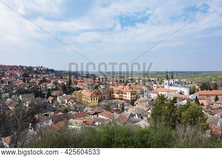 Urban Landscape Or Cityscape Of Sremski Karlovci Town Tourist Place In Serbia In Europe.