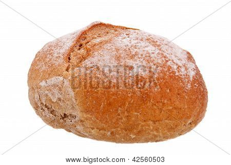 Wholemeal Bread Isolated On White.