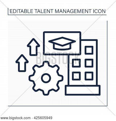 Training Line Icon. Internship Programs. Skills Are Improving. Talent Management Concept. Isolated V