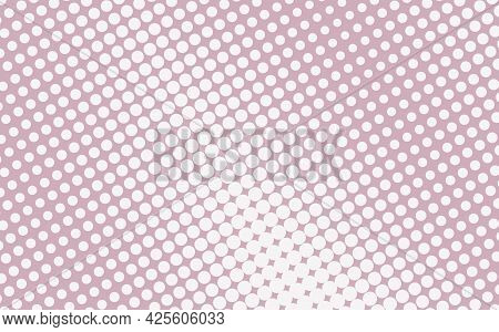 Pop Art Creative Concept Colorful Comics Book Magazine Cover. Polka Dots Pink And White Background.