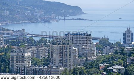 Urban Landscape With Buildings And Architecture. Yalta, Crimea
