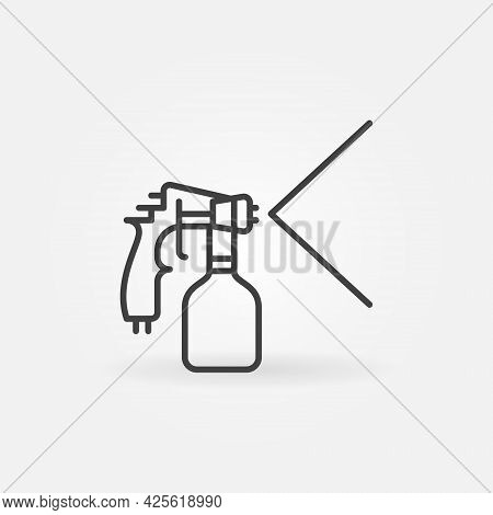 Vector Paint Sprayer Outline Concept Icon Or Symbol