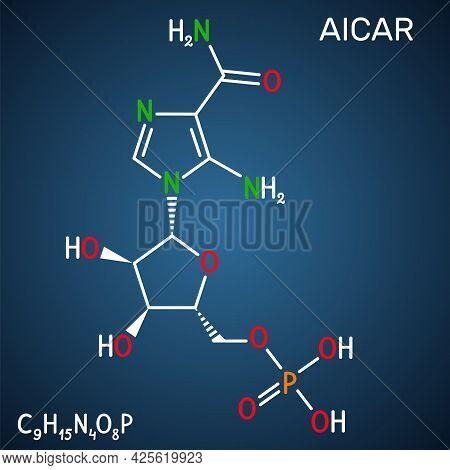 Aica Ribonucleotide, Aicar Molecule. It Is Aminoimidazole, Cardiovascular Drug, Plant And Human Meta