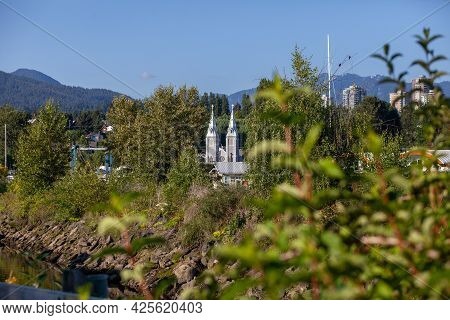The Spires Of Saint Paul's Roman Catholic Church National Historic Site Of Canada. It Is A Gothic Re