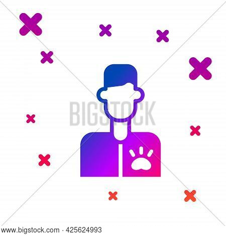 Color Veterinarian Doctor Icon Isolated On White Background. Gradient Random Dynamic Shapes. Vector