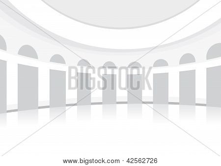White Hall For Dancing, Rounded, Posh, Background