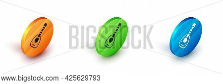 Isometric Musical Instrument Lute Icon Isolated On White Background. Arabic, Oriental, Greek Music I