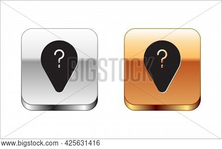 Black Unknown Route Point Icon Isolated On White Background. Navigation, Pointer, Location, Map, Gps