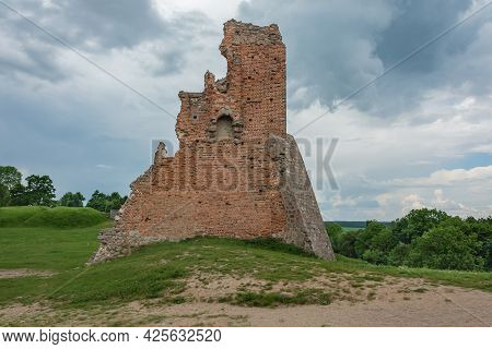 Remains Of The Ruins Of An Old Fortress (novogrudok, Belarus). Stock Photography.