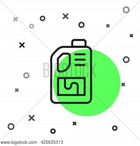 Black Line Drain Cleaner Bottle Icon Isolated On White Background. Water Pipes Cleaning. Plumbing Re