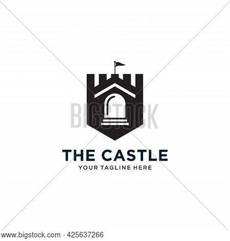 Castle Logo Design, Palace Logo, Fortress Logo, Vector Illustration