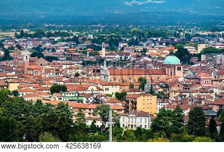 Aerial View Of The Cathedral Of Saint Mary Of The Annunciation In Vicenza, Italy