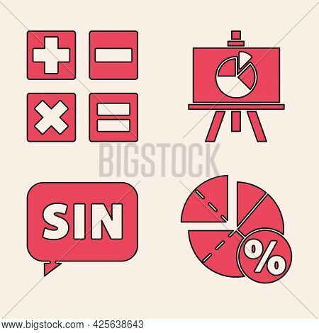 Set Graph, Schedule, Chart, Diagram, Calculator, Chalkboard With Diagram And Mathematics Function Si