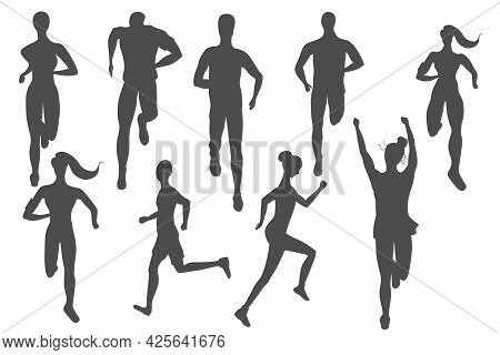 Big Set Of Runners Made As Icons