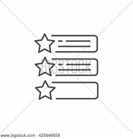 Testimonial List Line Outline Icon Isolated On White