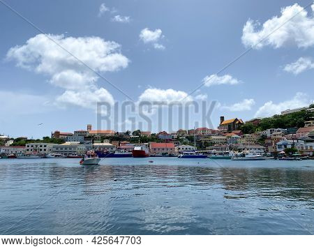 Bay And The Town Of St Georges