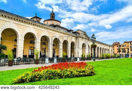 The Grain Market At Piazzale Arnaldo In Brescia - Lombardy, Northern Italy