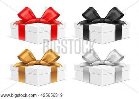 Low Size Colorful Vector Gift Box Set.