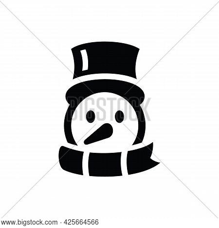 Christmas Snowman Line Icon. Elements Of New Year, Christmas Illustration. Premium Quality Graphic D