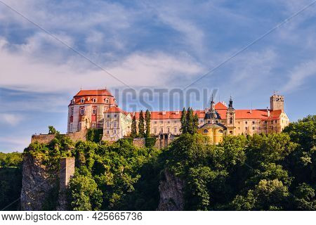 Chateau Vranov Nad Dyji In The Evening In Moravia, Czech Republic