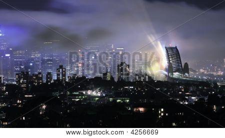 Sydney Harbour Bridge After The Fireworks 08/09