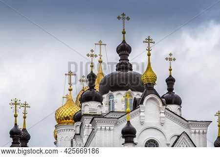 Theophany Convent Domes In Kostroma In Russia