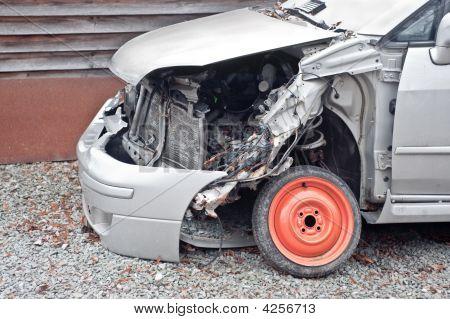 Crashed Car Closeup