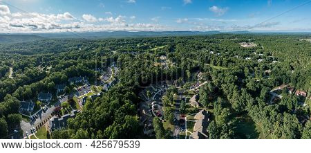 Aerial Drone View Of A Residential Golf And Vacation Community Development In Fairfield Glade Tennes