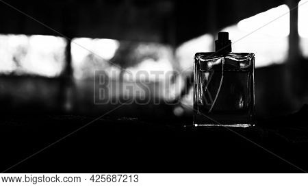 Men's Perfume In The Dark, Perfume Bottle.