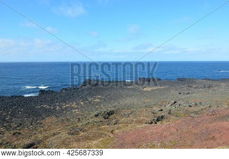 Great View Of The Scenic Coastline Of Snaefellsnes Peninsula.