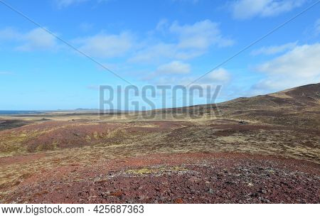 Peaceful Rural Views Of Countryside Of Snaefellsnes Peninsula In Iceland.