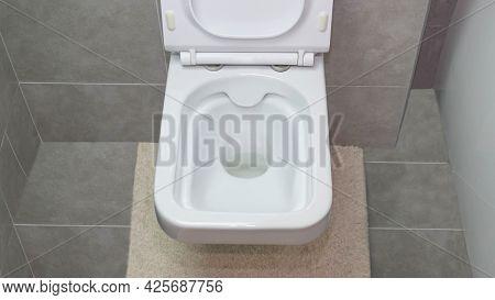 White Toilet Bowl Modern In The Interior