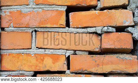 Background Brick Wall, Red Brick, Vintage Wall.