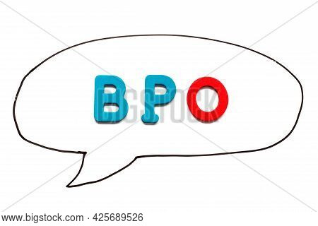 Alphabet Letter With Word Bpo (abbreviation Of Business Process Outsourcing) In Black Line Hand Draw