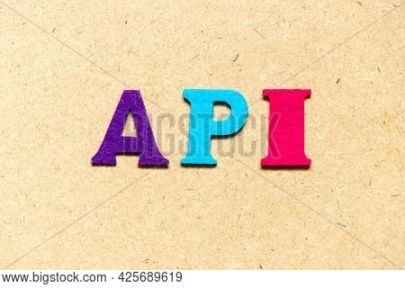 Color Cloth Alphabet Letter In Word Api (abbreviation Of Application Programming Interface Or Active