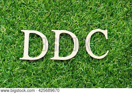 Alphabet Letter In Word Ddc (abbreviation Of Division Of Disease Control,  Direct Digital Control, D