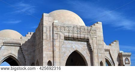 Al Mustafa Mosque,a large Islamic temple in the city center. Sharm El Sheikh , Egypt