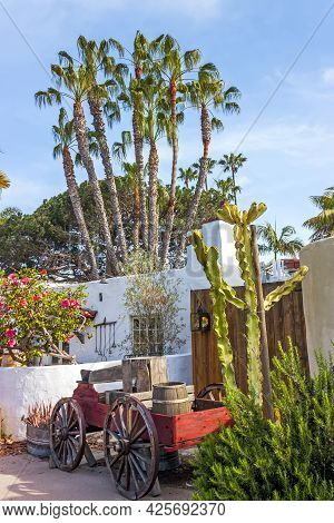 San Diego,ca - April 23,2014:interior Of The Courtyard In The Old Town San Diego,california,united S