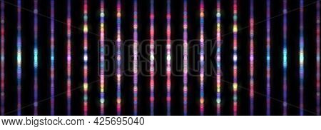 Abstract Blurred Background Of Vertical Multicolored Bokeh Pattern Texture Colorful Background. 3d I