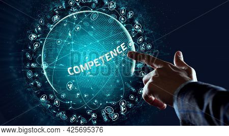 Business, Technology, Internet And Network Concept. Competence Skill Personal Development