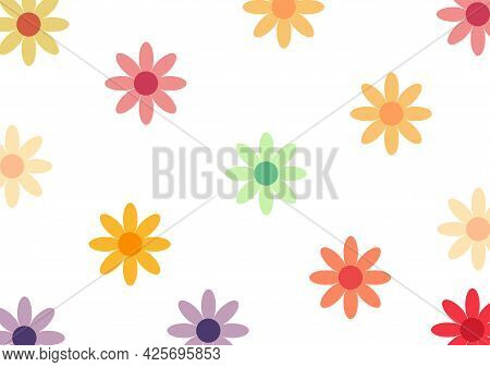 Beautiful Flower Pattern With Beautiful And Bright Colors