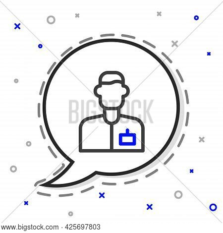 Line Analyst Engineer Icon Isolated On White Background. Colorful Outline Concept. Vector