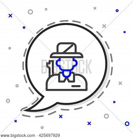 Line Hunter Icon Isolated On White Background. Colorful Outline Concept. Vector