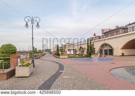 Gorzow Wielkopolski, Poland - June 1, 2021: Warta Boulevards In The Morning.