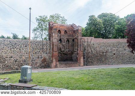 Gorzow Wielkopolski, Poland - June 1, 2021: Historic Defense Wall.
