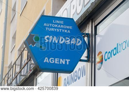 Gorzow Wielkopolski, Poland - June 1, 2021: Logo And Sign Of Sindbad.
