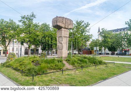 Gorzow Wielkopolski, Poland - June 1, 2021: Monument To The Second Polish Army.