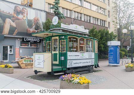 Gorzow Wielkopolski, Poland - June 1, 2021: Strong Hemp Store.