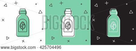 Set Essential Oil Bottle Icon Isolated Set Background. Organic Aromatherapy Essence. Skin Care Serum